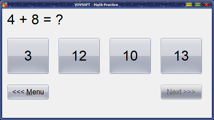 Math Practice Screen shot