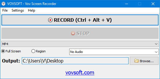 Vov Screen Recorder Screen shot