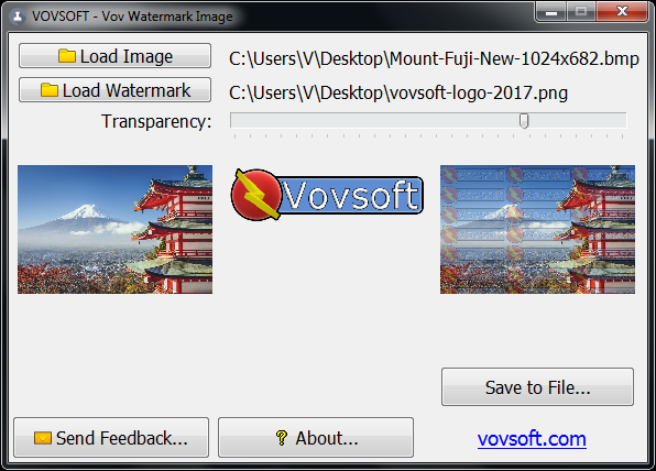 Vov Watermark Image Screen shot