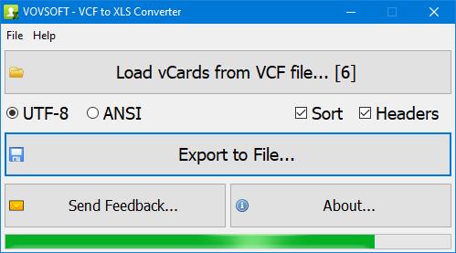 VCF to XLS Converter